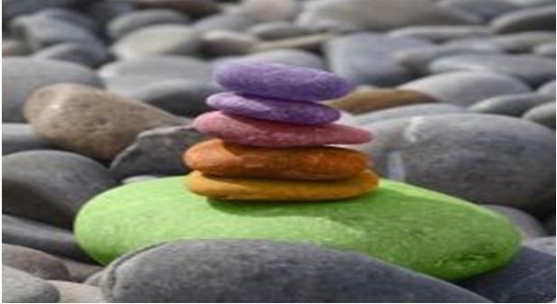 Evenwicht door balanceren